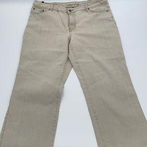 Cotton Ginny cream wash denim jeans 18 plus petite